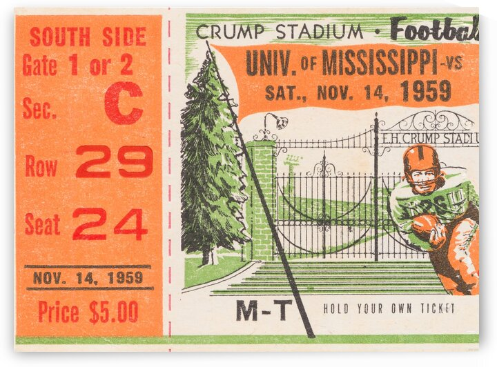 1959 Mississippi vs. Tennessee by Row One Brand