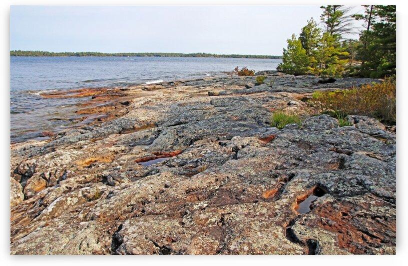 The Rock Of Wreck Island IX by Deb Oppermann