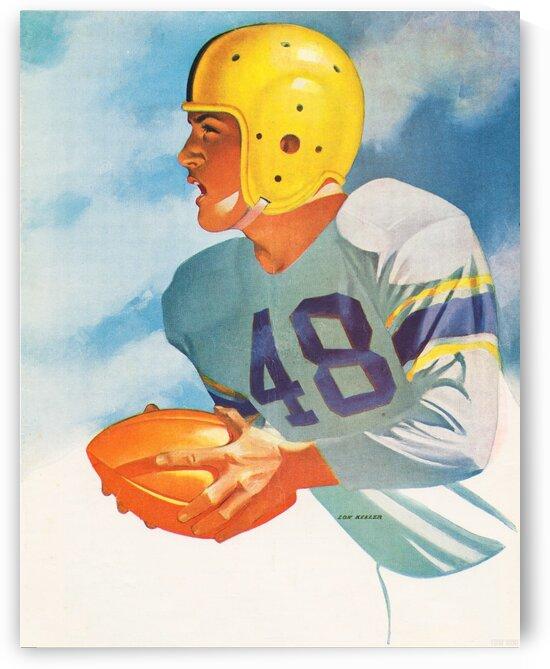 1948 Lon Keller Football Art by Row One Brand
