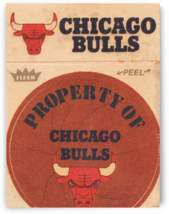1974 Chicago Bulls Fleer Decal Art by Row One Brand