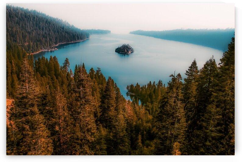 Beautiful island view at Emerald Bay Lake Tahoe California USA by TimmyLA