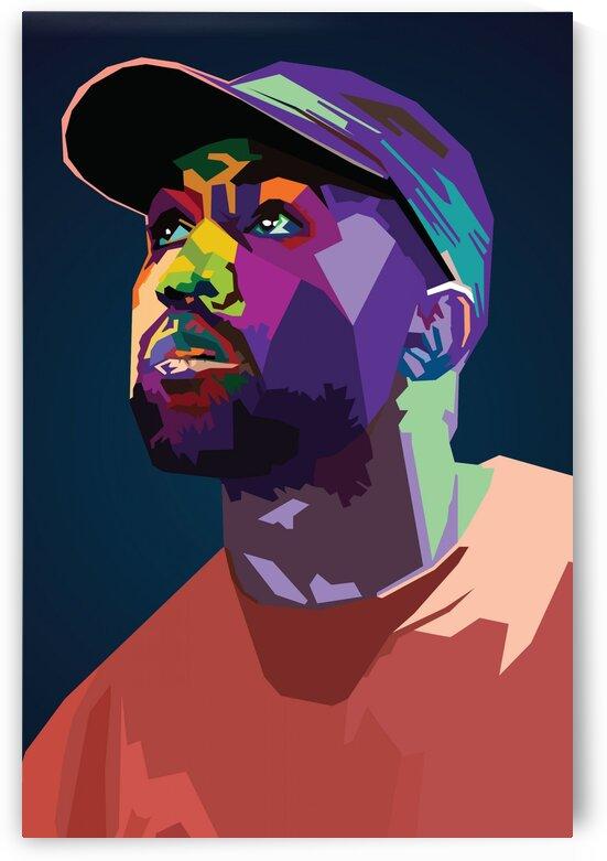 Kanye Musician by Long Art