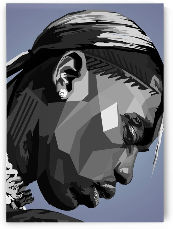 Travis Scott Musicain Black by Long Art