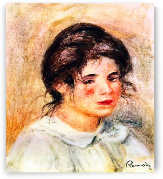 Portrait of Gabrielle by Renoir by Renoir