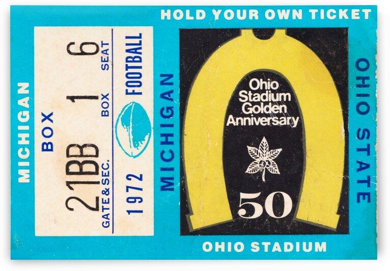 1972 Michigan vs. Ohio State by Row One Brand