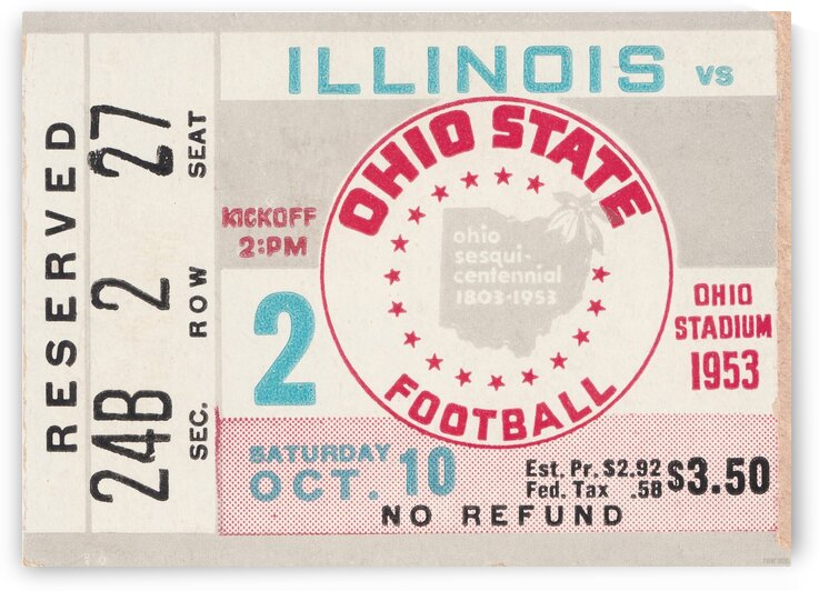 1953 Ohio State vs. Illinois by Row One Brand