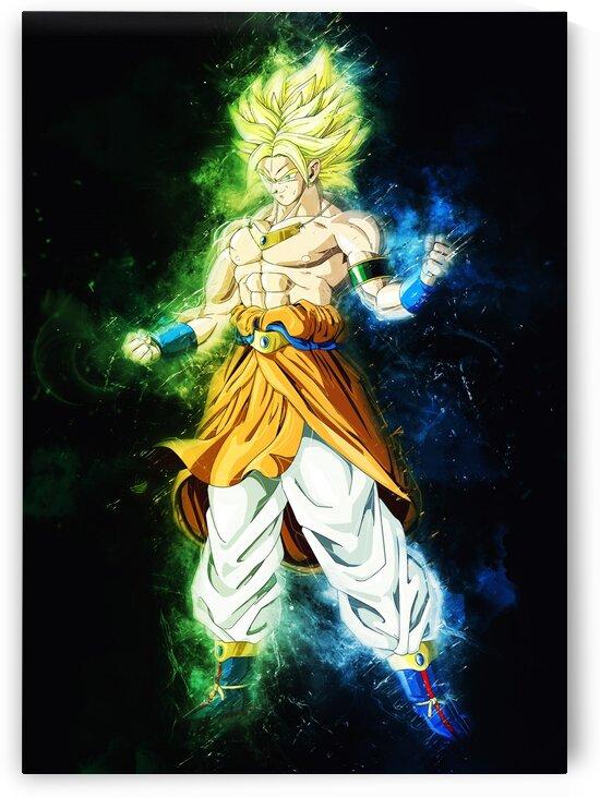 Broly Goku Fusion by Long Art