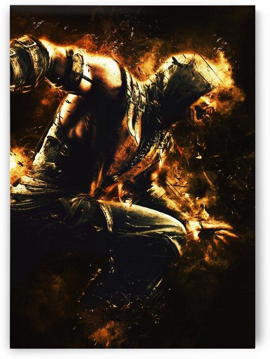 Scorpion Mortal Kombat by Long Art