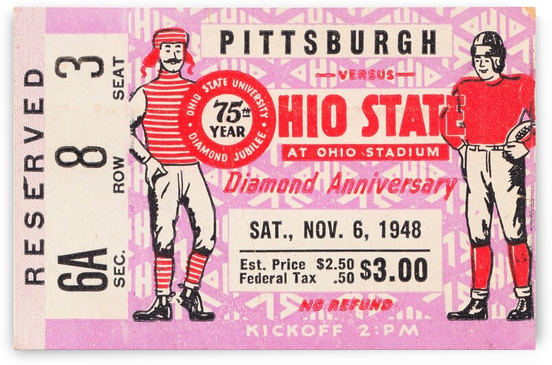 1948 Ohio State vs. Pittsburgh  by Row One Brand