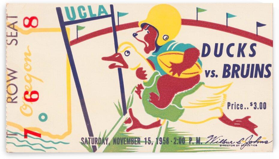 1958 Oregon vs. UCLA by Row One Brand