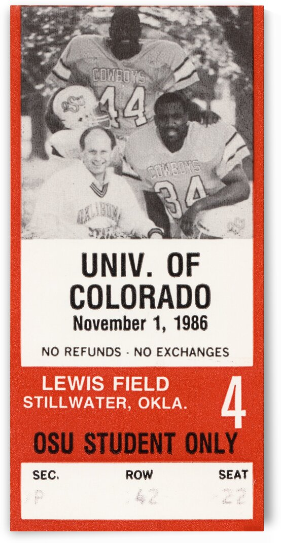 1986 Oklahoma State vs. Colorado by Row One Brand