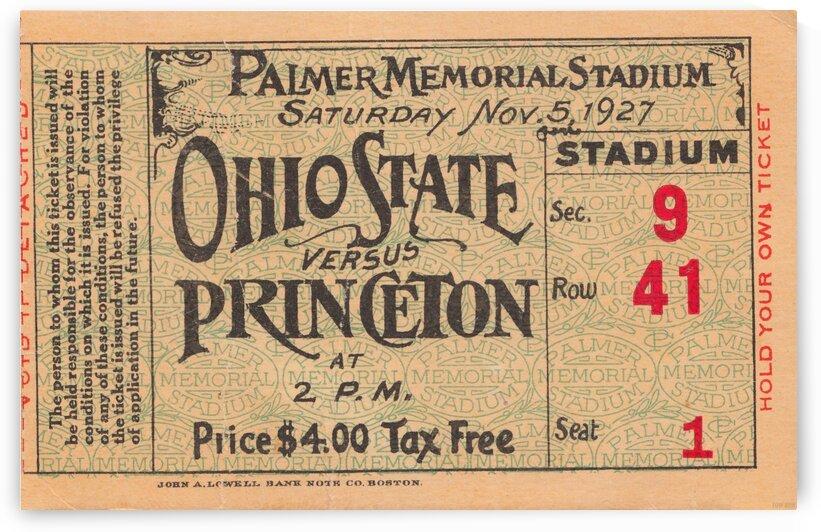 1927 Ohio State vs. Princeton  by Row One Brand
