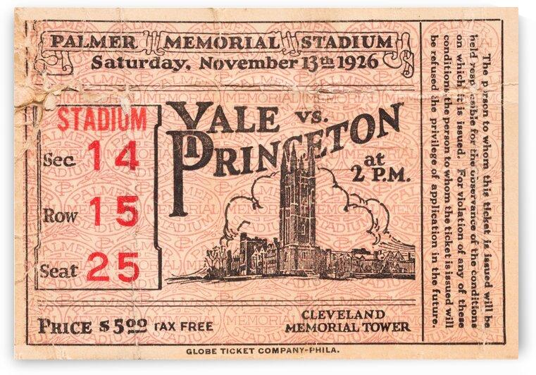 1926 Yale vs. Princeton by Row One Brand