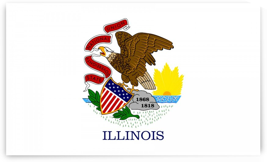 Illinois State Flag by Fun With Flags