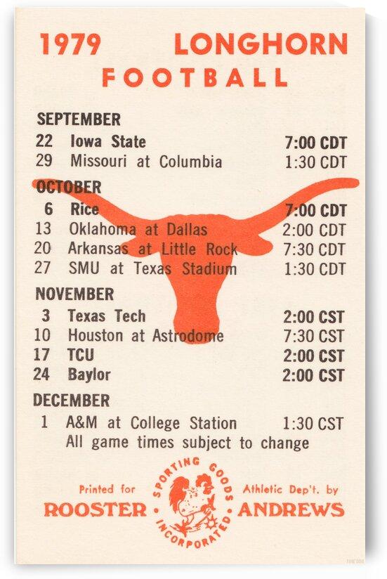 1979 Texas Longhorn Football by Row One Brand