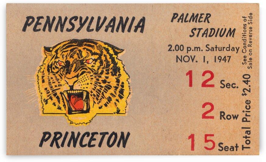 1947 Princeton vs. Penn by Row One Brand