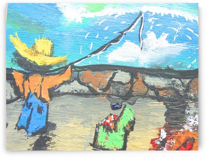 Boy Fishing by dawnrettew