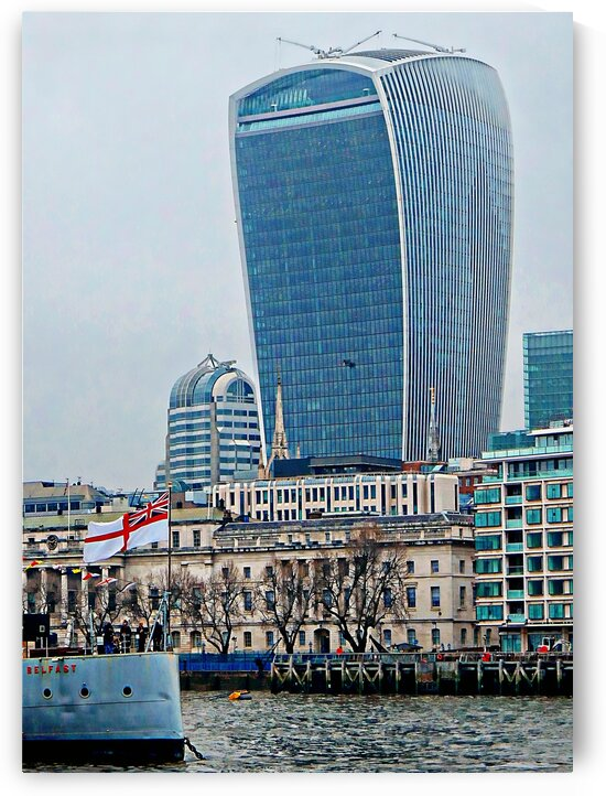Edging Toward the Walkie Talkie Building by Dorothy Berry-Lound