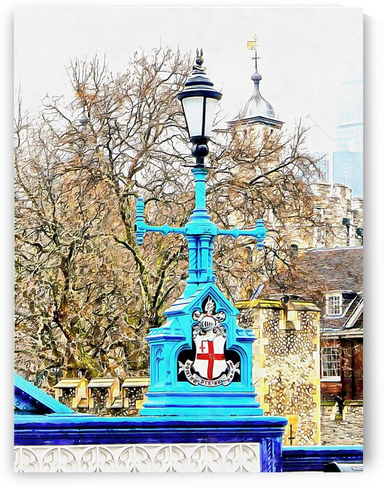Lamp Standard With City of London Coat of Arms by Dorothy Berry-Lound