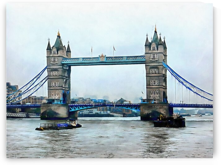 Moored Boats and Tower Bridge by Dorothy Berry-Lound