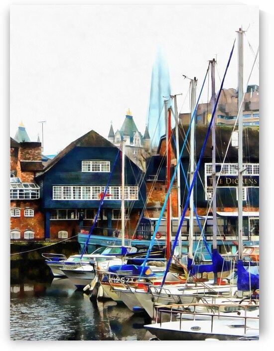 St Katherine Docks Boats 4 by Dorothy Berry-Lound