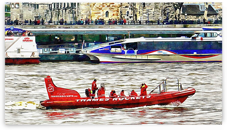 Tourist RIB Experience River Thames 2 by Dorothy Berry-Lound