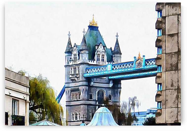 Tower Bridge As Seen From St Katharine Docks by Dorothy Berry-Lound