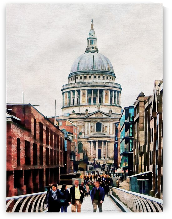 Walking to St Pauls Cathedral by Dorothy Berry-Lound