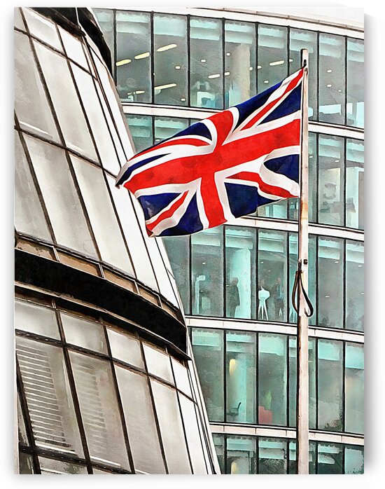 Union Jack Outside City Hall London by Dorothy Berry-Lound
