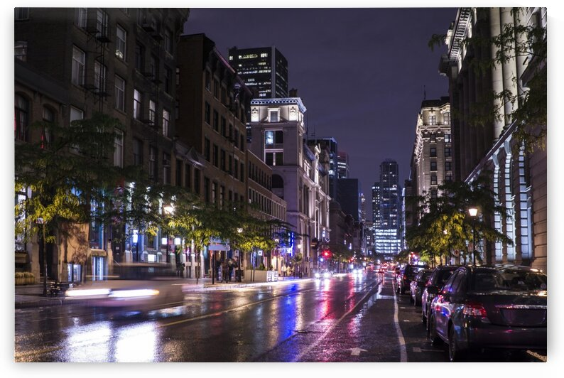 Downtown Montreal at night Montreal Quebec Canada by Atelier Knox