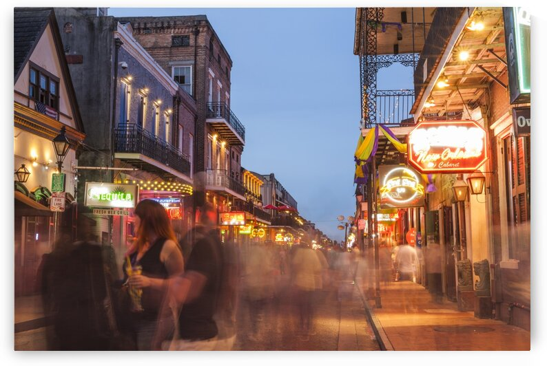 Bourbon street french quarter of New Orleans Louisiana USA by Atelier Knox