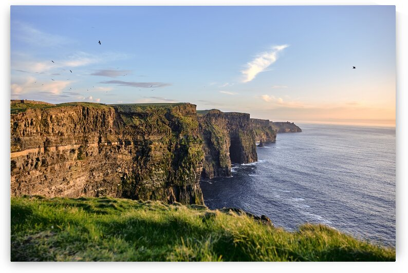 Cliffs of Moher near Doolin at sunset County Clare Ireland Europe by Atelier Knox