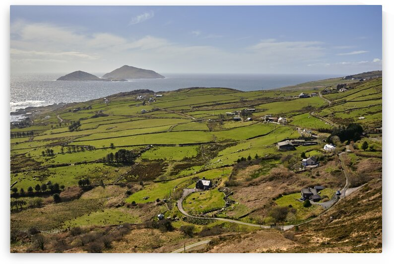 Farm lands along the Ring of Kerry Co. kerry Ireland Europe by Atelier Knox