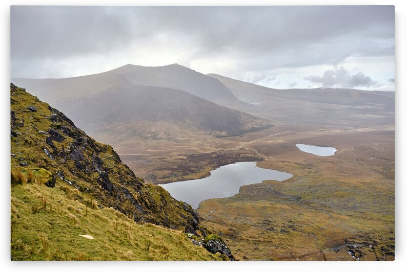 Mountain top view through Conors Pass co. kerry Ireland Europe 2018 by Atelier Knox