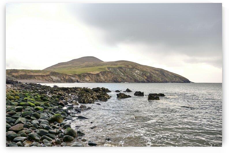 Beach near Minard castle on cloudy day co. kerry Ireland Europe by Atelier Knox