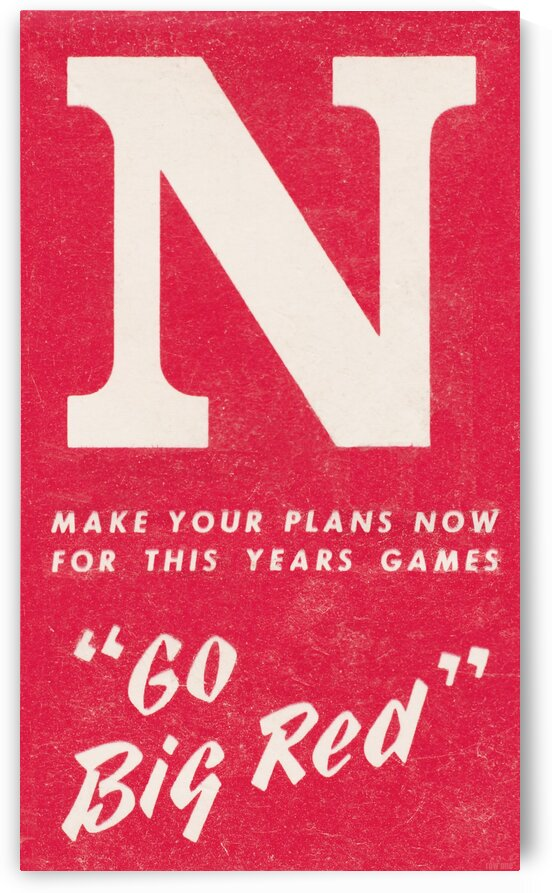 1969 Nebraska Football Art by Row One Brand