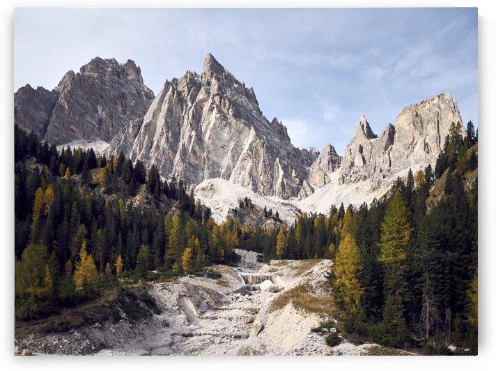 Mountain peaks of the italian dolomites Cortina dAmpezzo Italy Europe by Atelier Knox
