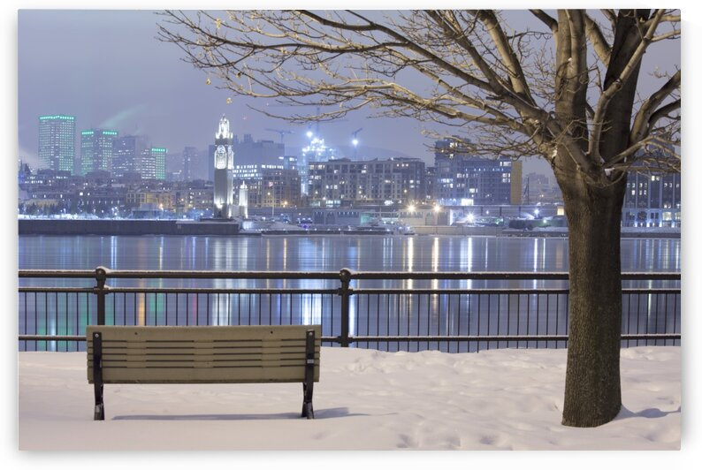 Cityscape from Inner city park at night Montreal Quebec Canada by Atelier Knox