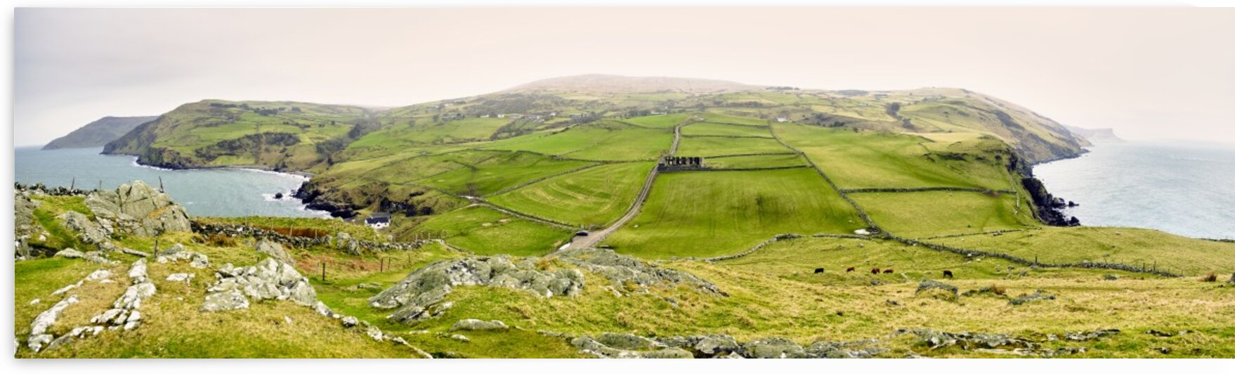 Panorama of coast from Torrs head County Antrim Northern Ireland United Kingdom by Atelier Knox