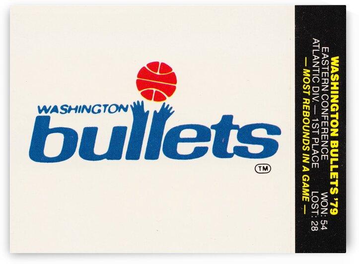 1979 Washington Bullets Fleer Decal  by Row One Brand