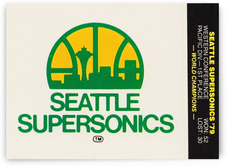 1979 Seattle Supersonics Fleer Decal by Row One Brand