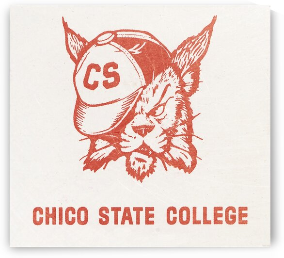 1950s Chico State College Wildcat Art by Row One Brand