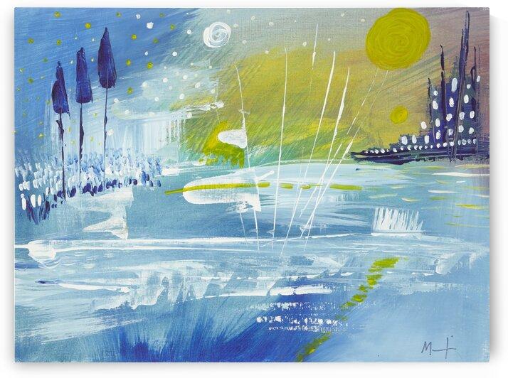 BLUE Landscape. by Martine Harris