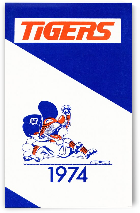 1974 Detroit Tigers Art by Row One Brand