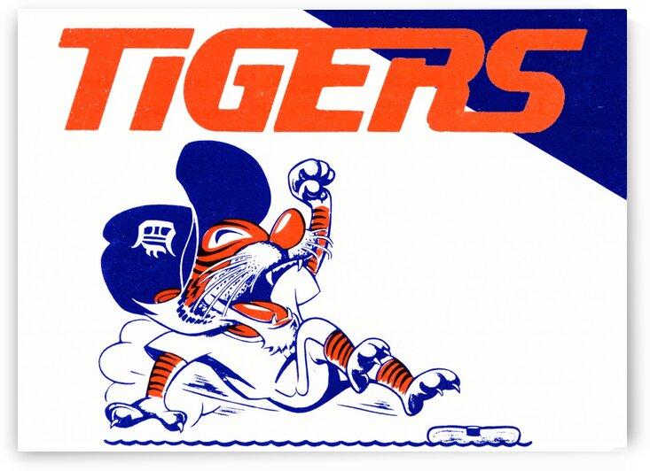Tigers Cartoon by Row One Brand