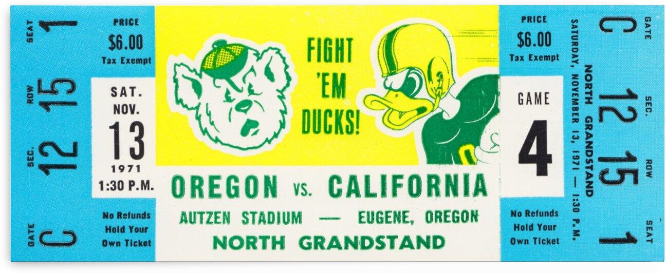 1971 Oregon vs. California by Row One Brand