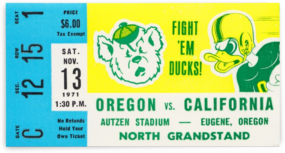 1971 California vs. Oregon by Row One Brand