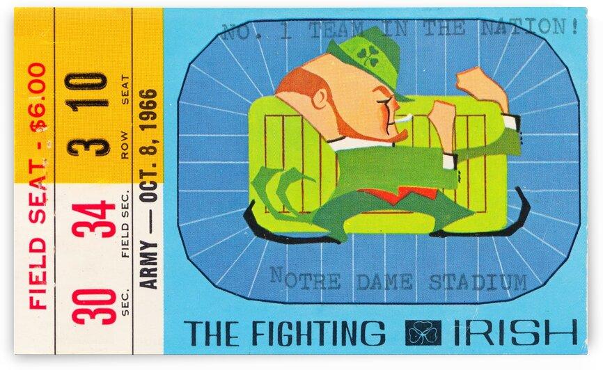 1966 Army vs. Notre Dame by Row One Brand