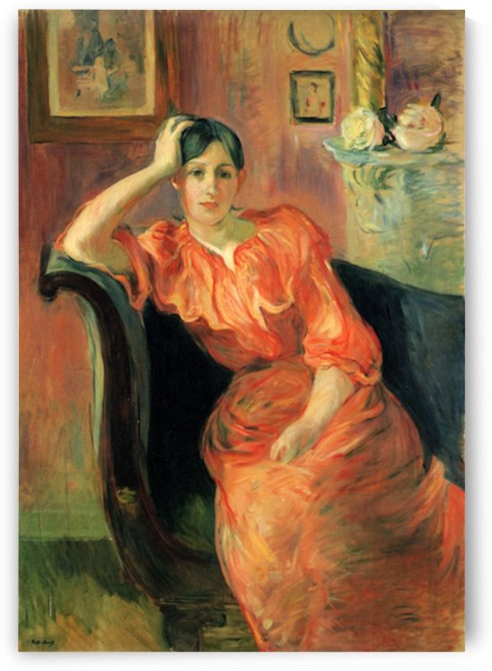 Portrait of Jeanne Pontillon by Morisot by Morisot