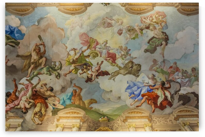 Marble Hall Ceiling Fresco in Melk Abbey by Nicholas